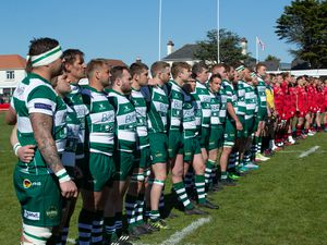 Guernsey v Jersey .Siam Cup .Team line-ups.www.guernseysportphotography.com .Rugby at Stade Santander, St Peter, Jersey. Picture by Martin Gray, 11-05-19.. (29200942)