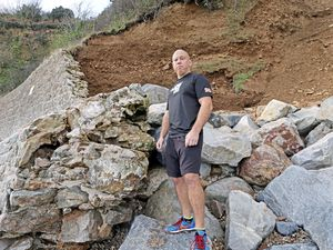 Distance.gg running club member and spokesman Ross Le Brun has appealed for someone with engineering qualifications to advise on work needed at Fermain, but Environment & Infrastructure said repairs would start next autumn. (Picture by Steve Sarre, 23097127)