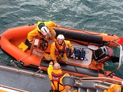 Skipper rescued after suffering heart attack