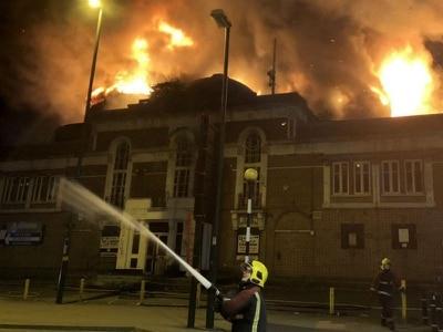 Dozens of firefighters tackle blaze at empty Birmingham cinema