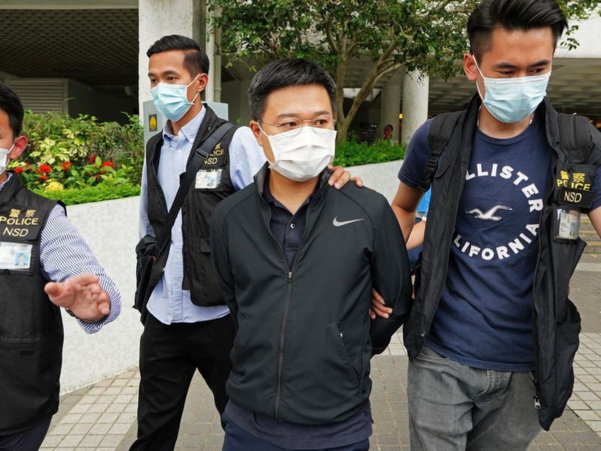 Five Apple Daily execs arrested under Hong Kong security law