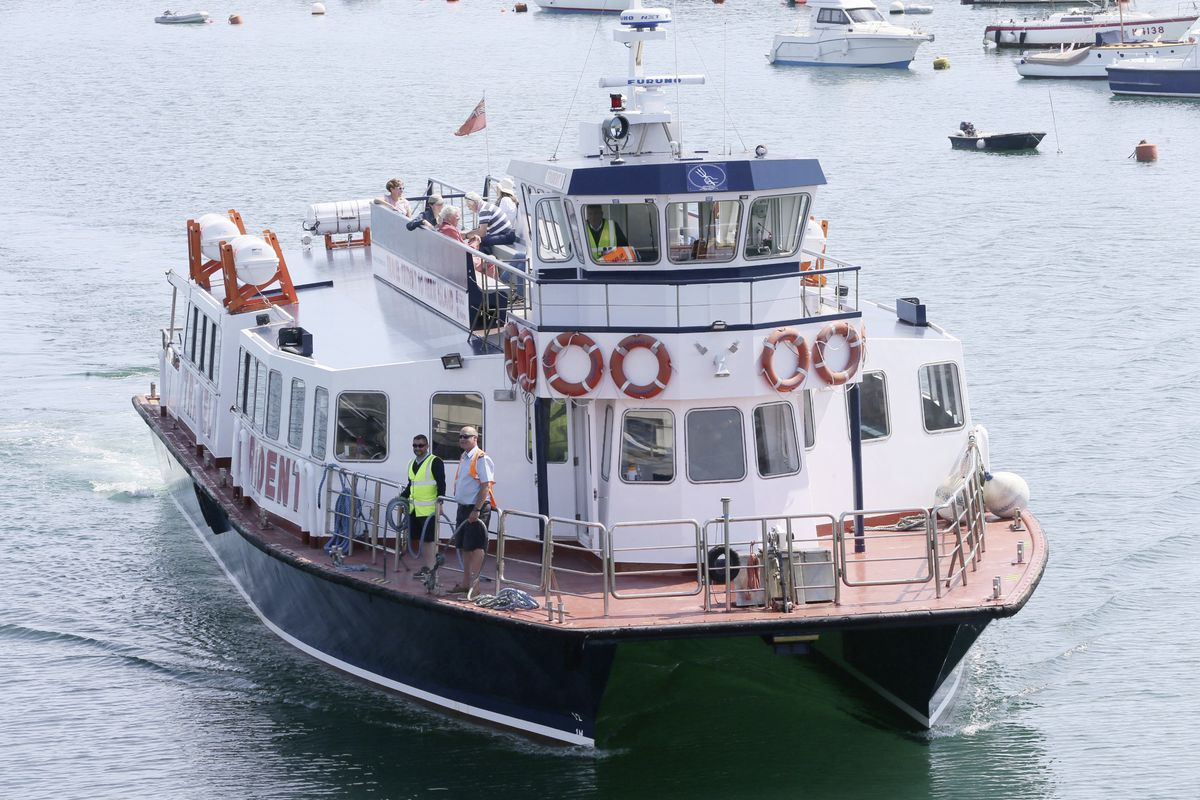 The Herm Trident resumed passenger sailings yesterday. (Picture by Adrian Miller, 28352180)