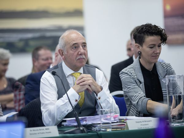 Health & Social Care president Al Brouard and vice-president Tina Bury. (Picture by Peter Frankland, 30108653)