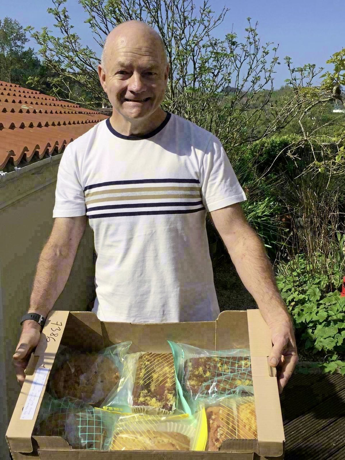 Stroke survivor Tony Robinson has been baking cakes for staff at the PEH during lockdown as a way of giving back to the service which has helped him on his road to recovery. Image supplied. (29273182)
