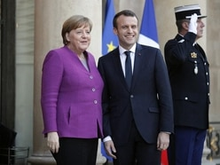 These pictures of Angela Merkel and Emmanuel Macron look like the perfect duet