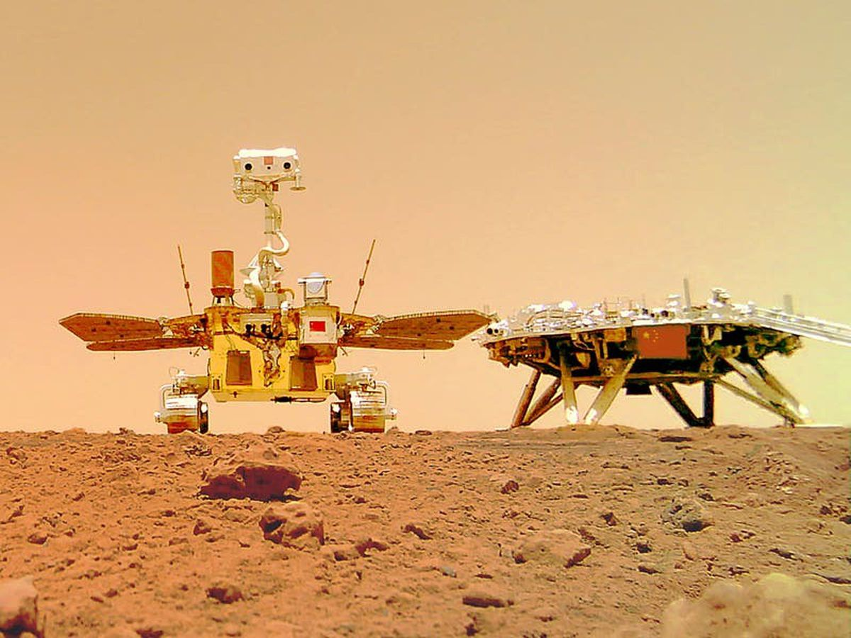 Chinese rover takes selfie on dusty Martian surface