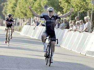Sam Culverwell celebrates his win in Belgium on Saturday. (25861564)