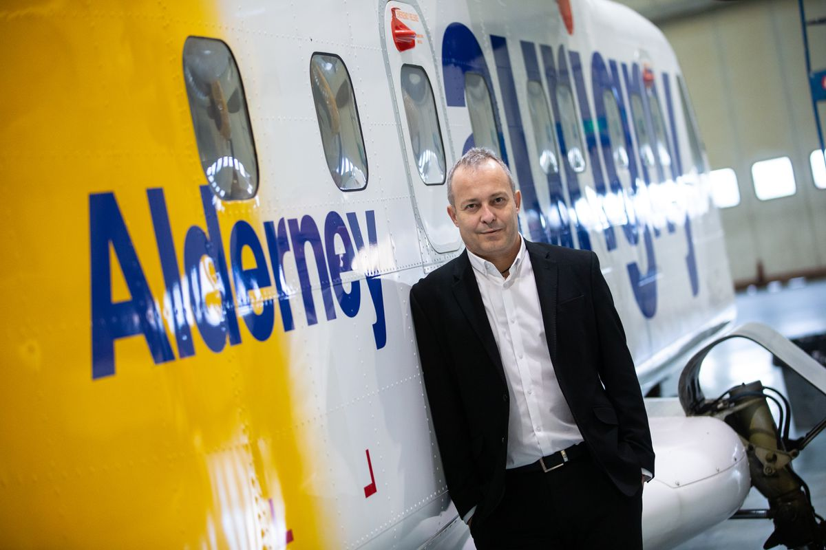 Aurigny chief executive Nico Bezuidenhout said the airline wants to 'reduce the average cost of air travel and make its service more accessible, and more affordable, to more travellers to and from the Bailiwick'. (Picture by Peter Frankland, 29983662)