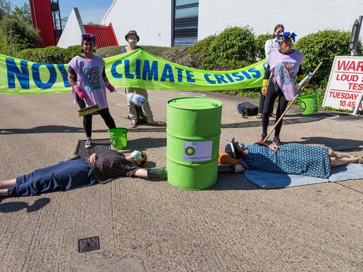 Oil terminal blocked in 'greenwash' protest by Extinction Rebellion activists