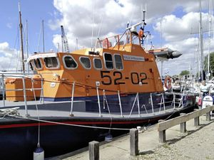 Picture supplied by Malcom Turner.  Regular visitor to Guernsey, Malcolm Turner was suprised to see an iconic Guernsey Lifeboat, The Sir William Arnold, under going restoration on the river at Heybridge Basin, Maldon, Essex, which is near his home. (28499190)