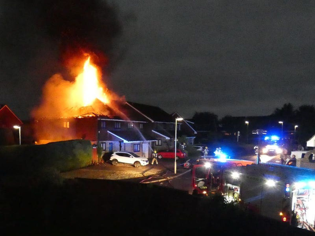 Lightning sets fire to houses as storms bring end to heatwave