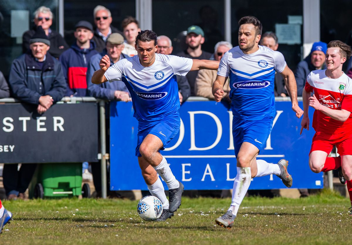 One going, one staying: Fin Whitmore (on the ball) and Carlos Canha. (Picture by Martin Gray, 29405425)
