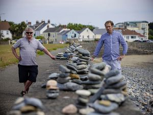 Deputy Matt Fallaize, right, and Russ Fossey, head of arts development at the Guernsey Arts Commission. (Picture by Peter Frankland, 28330549)