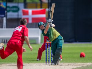 ICC T20 World Cup Europe Qualifiers .Denmark v Guernsey . Josh Butler.Cricket at the KGV 20-06-19. Picture by Martin Gray. (28490530)