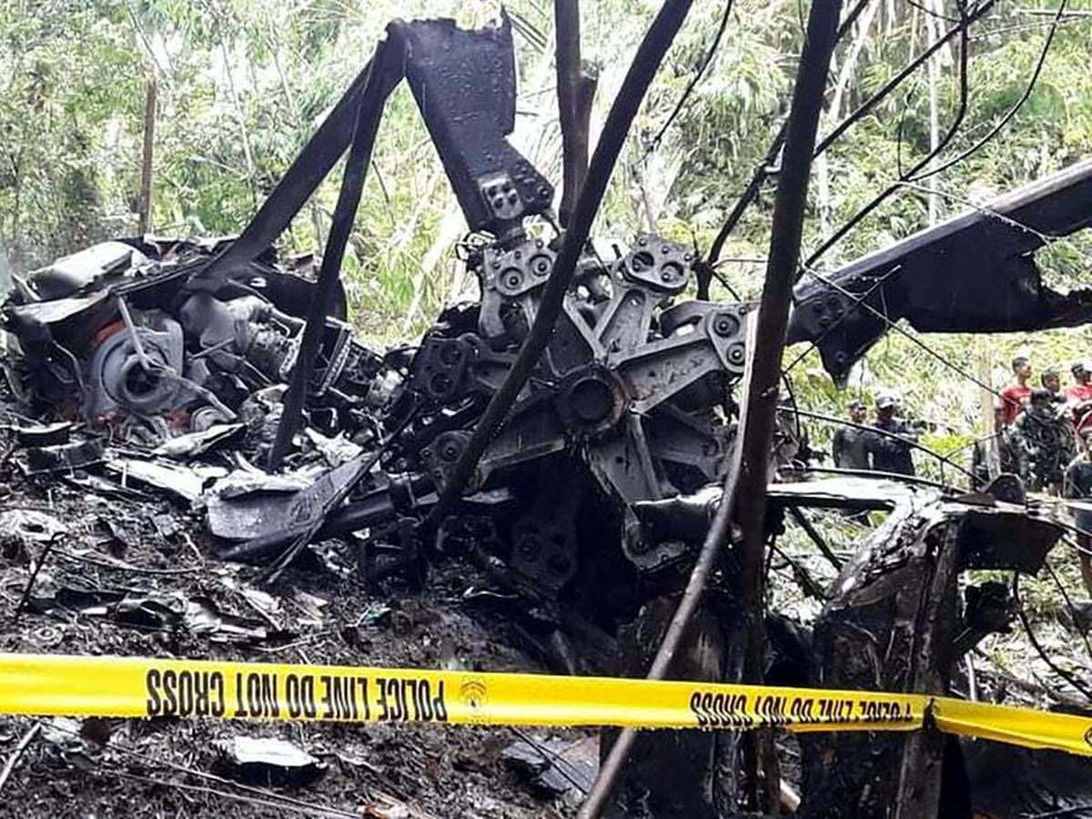 Four crew killed as Philippine air force helicopter crashes
