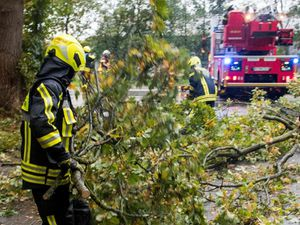 Strong winds cause damage and disruption across western Europe