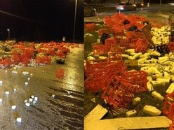 A lorry caused a huge spillage of milk in Gloucester and everyone's making ridiculous puns