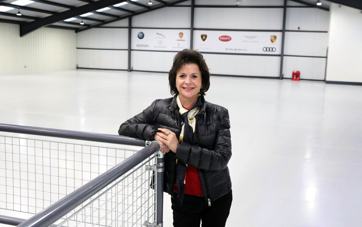 Karen Lewis of Luxury car storage company Lordes at its state-of-the-art facility in Pitronnerie Road.          (Picture by Steve Sarre, 20223655)