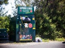 Black sacks jammed into charity clothing bin the worst of coastal littering