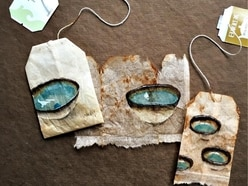 This artist creates incredible paintings using old tea bags as her canvas