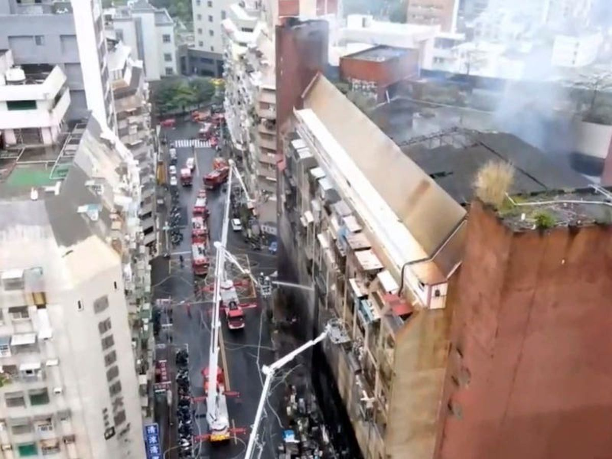Apartment block fire leaves 46 dead and dozens injured in Taiwan