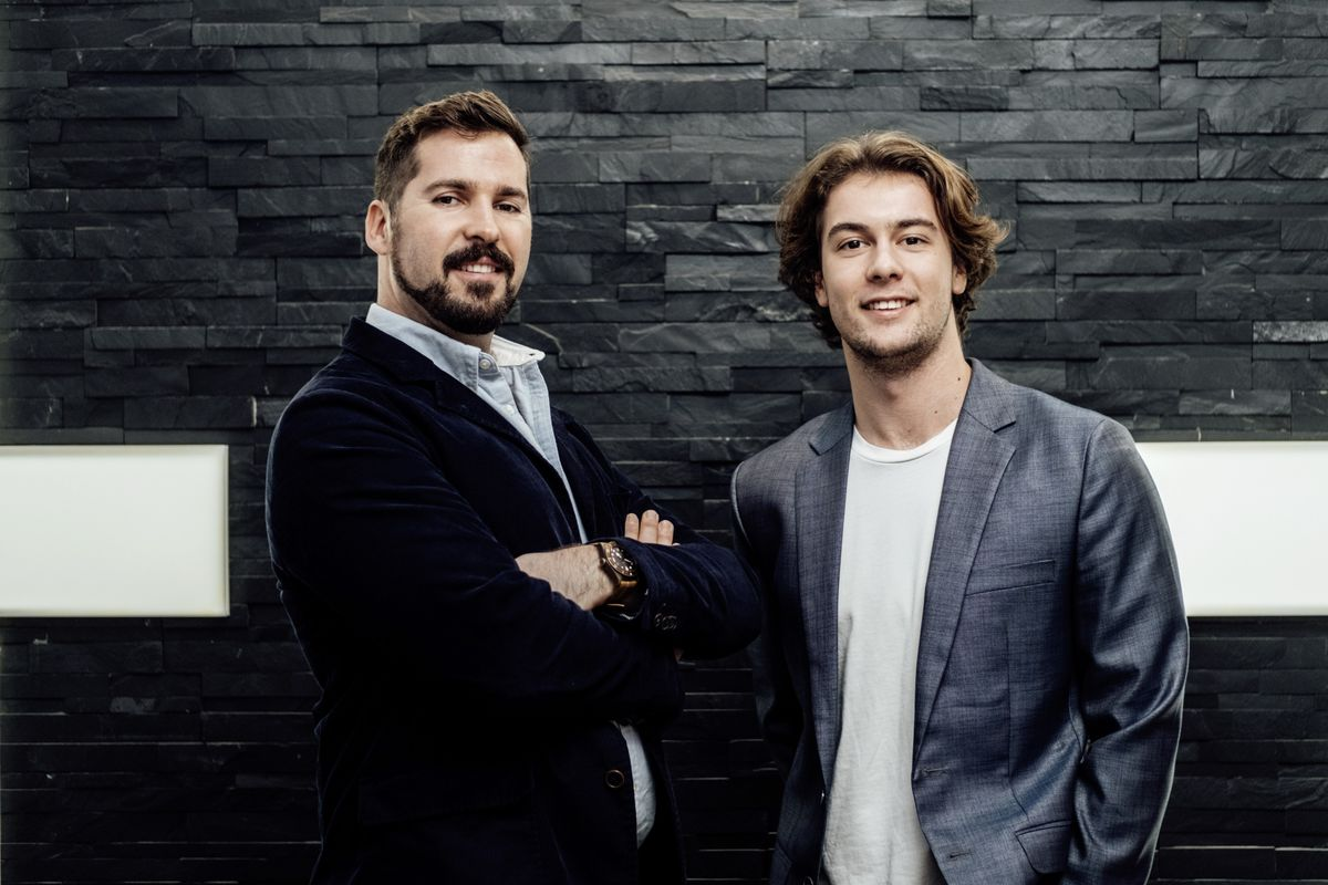 Founders of goto, an uber-like taxi app which has launched in Guernsey. L to R co-founder Robbie Andrews and founder Ben Lewis. Picture supplied by goto. (26907090)