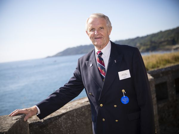 Alan Brunger, president of the Royal Air Forces Association (Guernsey).  (Picture by Peter Frankland, 29542600)