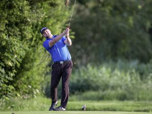 Adam Chapman on the 16th tee. (Picture by Martin Gray, 25071595)