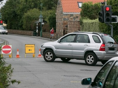 Drivers ignoring temporary road signs