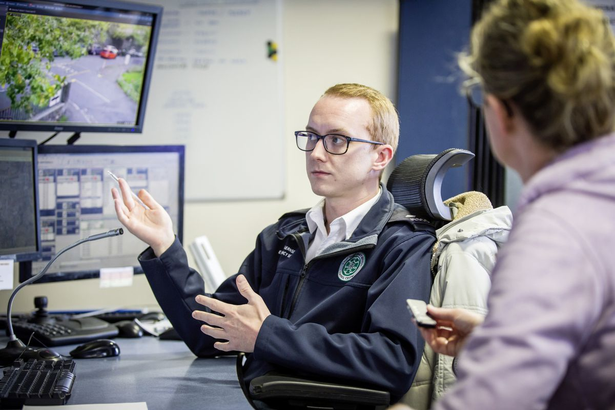 Picture by Sophie Rabey.  13-10-20..A day in the life of JESCC at the Police Station.  Joint Emergency Services Control Centre..Shane Harvey. (28810337)