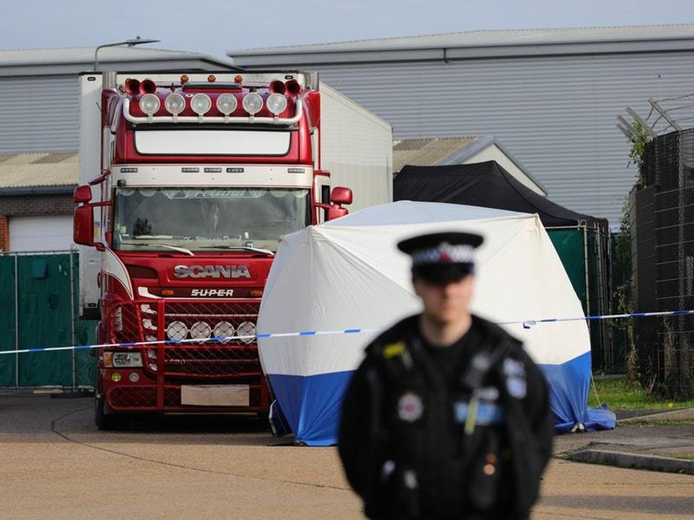 Murder investigation launched after 39 people found dead in Essex lorry container
