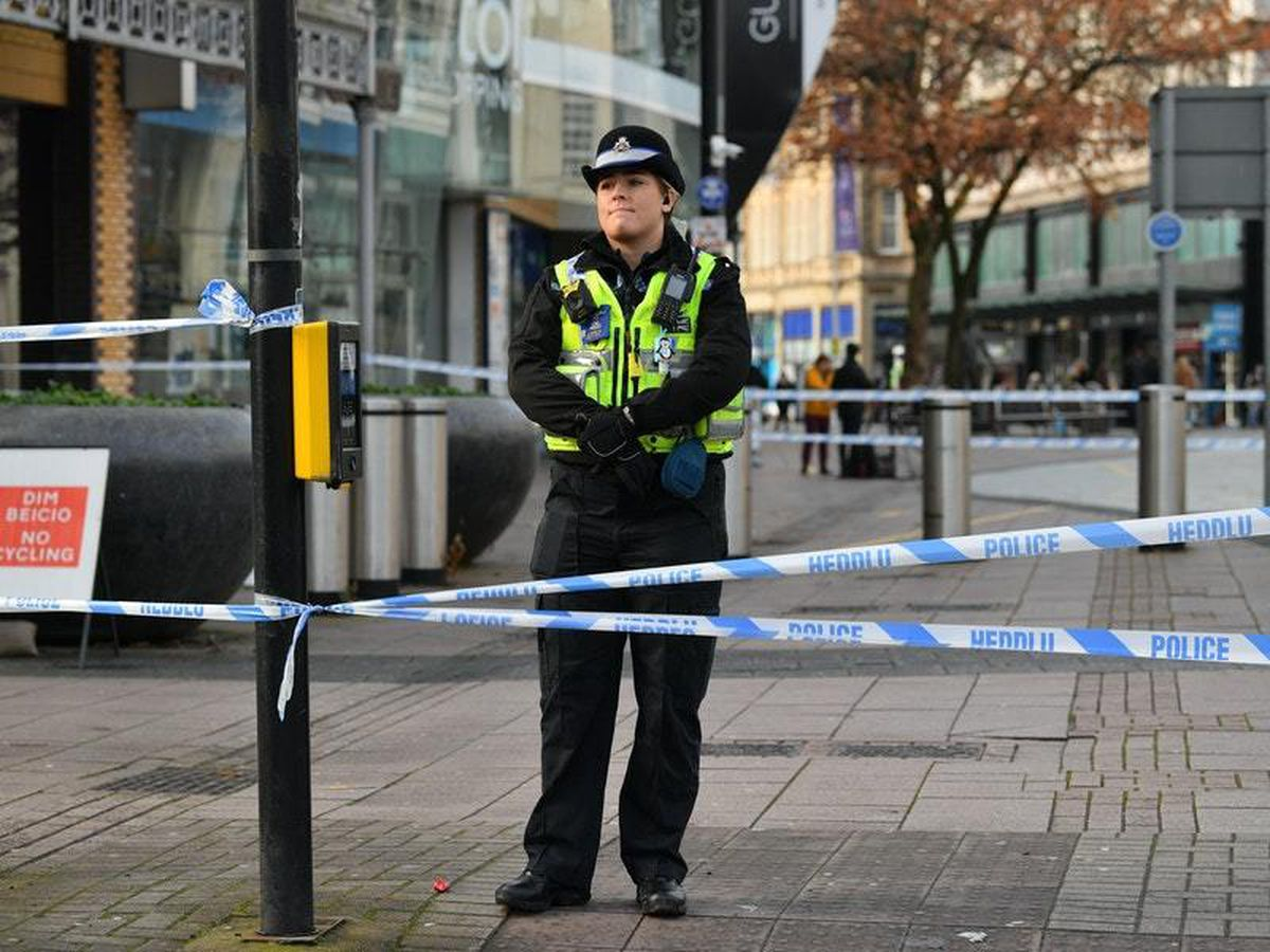 Four arrested after 'stabbing incident' in Cardiff city centre