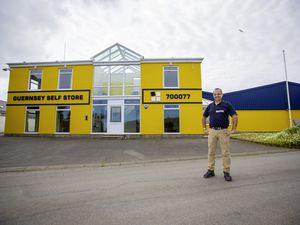 Picture by Peter Frankland. 03-05-21 Nicholas Blakely at the new Guernsey Self Store building in Forest.. (29509393)