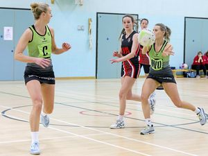 Picture By Steve Sarre 17-03-19 .St Sampsons High school .Netball action Panthers V Clan 2. (24161910)