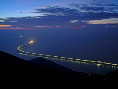 In Video: World's longest sea-crossing bridge ready for first cars