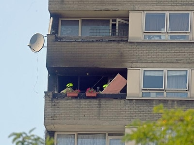 Residents 'fearful' as fire breaks out at block of flats near Grenfell Tower