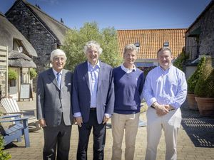 Oatlands Village investment: Sir Geoffrey Rowland, Guy Hands, Chris Coles and Jon Ravenscroft. (29879477)