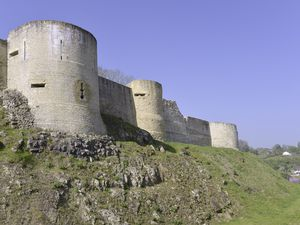 (28495749) Castle of William the Conqueror of Falaise, a commune in the Calvados department in the Basse-Normandie region in northwestern France
