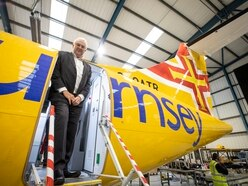 WATCH: Aurigny's new aircraft has arrived with a fresh lick of paint
