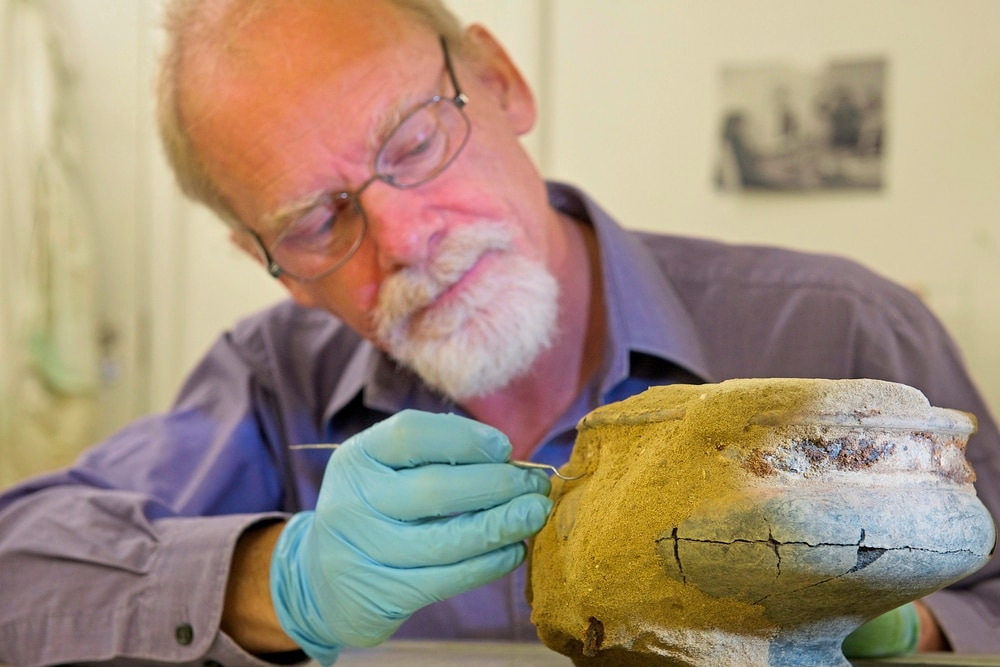 Restoration work starts in Jersey on rare Roman vase