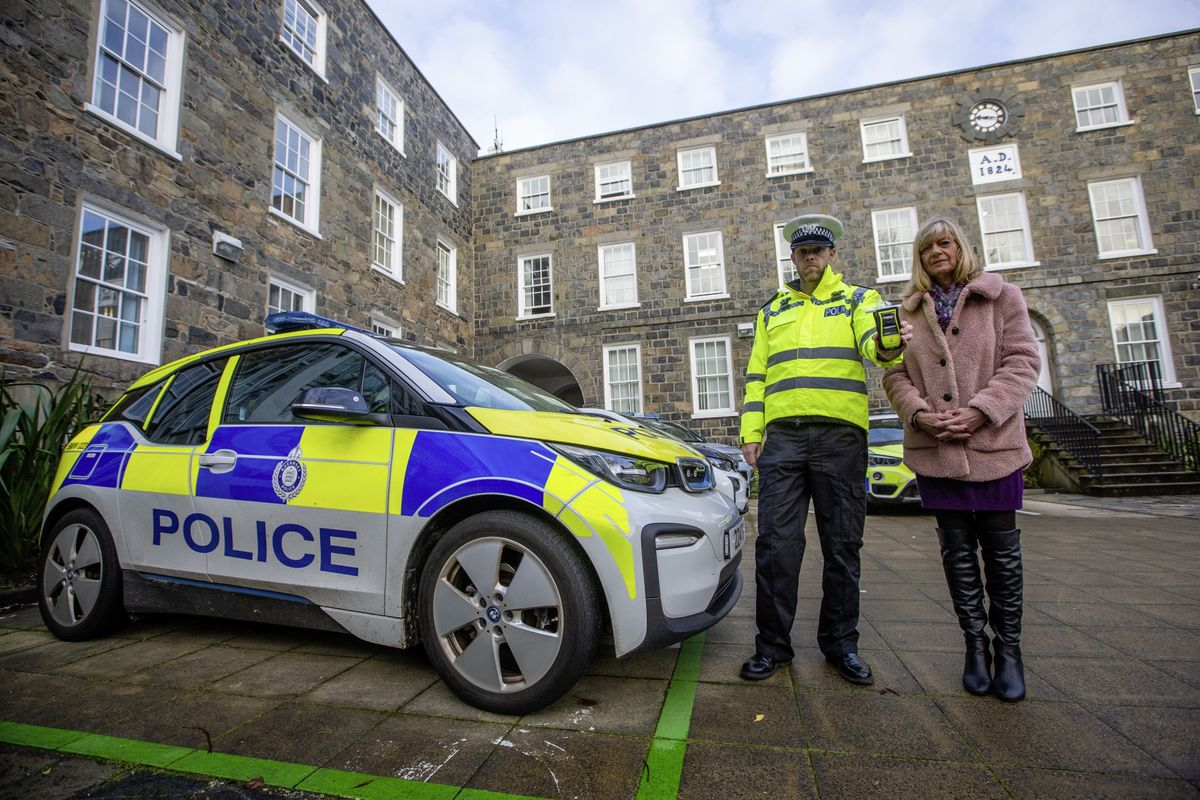 Drivers who are tempted to drink and drive were warned of the greater consequences their actions face as the Christmas campaign to combat it was launched by Inspector Thomas Marshall, who leads Guernsey Police's roads policing unit, and Andrea Nightingale, substance misuse lead for the Health Improvement Commission.(Picture by Peter Frankland, 29015806)