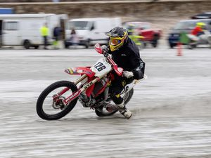 Pic supplied by Andrew Le Poidevin: 10-04-2021...Guernsey Motor Cycle & Car Club Sand Racing Championship at Vazon Bay. Round-1. Billy Russell.. (29424615)