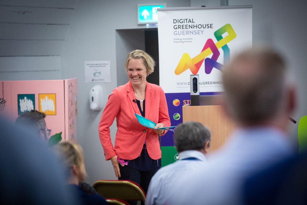 Deputy Sasha Kazantseva-Miller at Entrepreneurship Week event at The Digital Greenhouse. (Picture by Peter Frankland, 28931034)