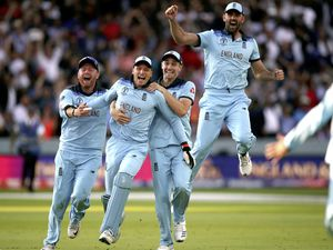 England players celebrate winning the ICC World Cup in dramatic style at Lord's on Sunday, a sporting occasion which former Guernsey captain Andy Biggins said it was a privilege to be at.  (Picture by Nick Potts/PA Wire)