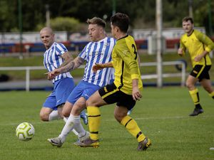 Pic supplied by Andrew Le Poidevin: 11-09-2021...Priaulx League football at The Track. Belgrave Wanderers v Alderney.. (29979063)