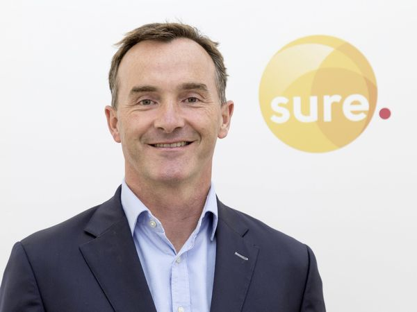 Alistair Beak has been named acting group CEO of Sure. (29303308)