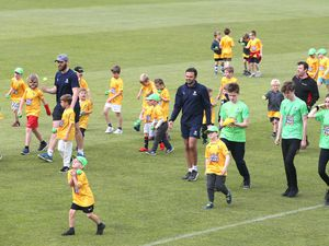 Looking to the future: Guernsey cricket coaches working with the Ravenscroft Future Stars development programme. (Picture by Adrian Miller, 25246963)