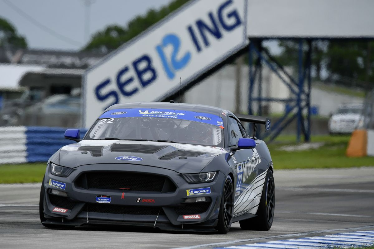The Multimatic Motorsports Ford Mustang GT4 of Seb Priaulx and Scott Maxwell at Sebring. (Picture from IMSA, 28486065)