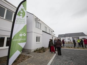 The Guernsey Housing Association celebrated the completion of its 1,000th property, at its latest development at Clos Carre, St Saviours, on 18 January. (Picture by Adrian Miller, 29208827)
