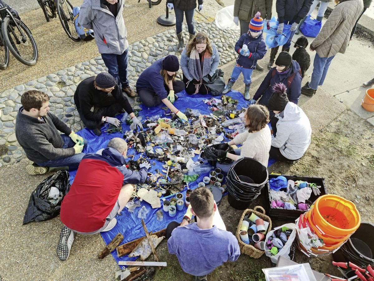 Environmental groups Green Guerns and the Clean Earth Trust have criticised the temporary removal of a screen installed at Fort George in December 2017, in an effort to tackle non-biodegradable flushed items going into the sea. Pictured, the haul from a recent beach clean, organised by the Clean Earth Trust. (Picture supplied)